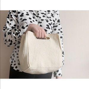 soft woven purse